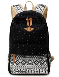 DoubleMay Sac en Toile Cartable College Fille Adolescents