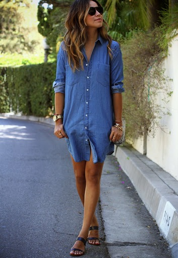 robe chemise casual